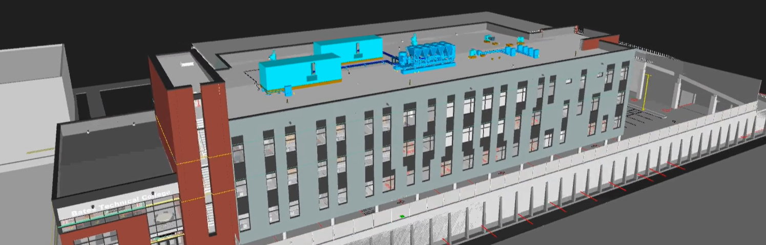 Screen shot of 3d image of new building