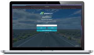 Photo of WhichWay website displayed on laptop