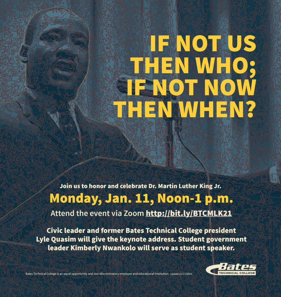 MLK evite: If not us then who, if not now then when